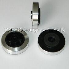 4x Aluminium Gerätefüße  Ø 45x15mm Absorber NEU  Dämpfer Hifi Feet Gehäusefüße