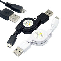 Retractable Micro USB A to USB 2.0 B Male Cable Sync Data Charger for Android Pe