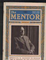 Mentor Magazine February 1923 O Henry Issue Author