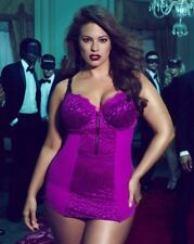 ASHLEY GRAHAM Plus Size 4X  Fuchsia Pink Corset Garter Slip Shaper Up, Burlesque