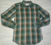 Men's CC Filson Plaid Flannel Soft Cotton Button Up Long Sleeve Shirt Size S EUC
