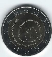 Pièce 2 euros commémo Slovénie 2013 (800 ans Grotte de Postojna)
