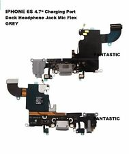 """iPhone 6S 4.7"""" Charging Charger Port Dock Headphone Jack Mic Flex Cable GREY"""
