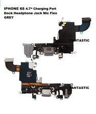 "Iphone 6S 4.7"" carga puerto del cargador Dock conector para auriculares Micrófono Cable Flexible Gris"