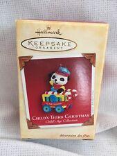 Child's 3rd Christmas Hallmark Keepsake Ornament Panda Traincar 2004 New!