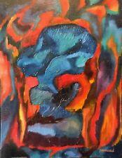 Abstrait Signé A Massard peinture sur papier Abstraction XXe