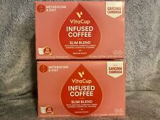 VitaCup Slim Blend Coffee With Garcinia Cambogia, 10 Pods, Lot Of 2 Boxes