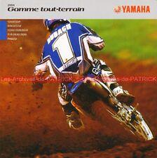 YAMAHA YZ WR 85 125 250 450 TT-R 90 125 PW 50 80 2004 : Brochure - Moto #0016/2#