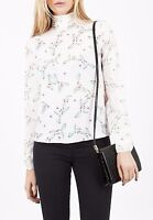 Marks & Spencer Limited Edition Floral Peach Blouse Shirt Top Size 6-16