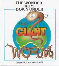 The Wonder from Down Under The Giant Worm Bass Victoria Australia STICKER 1980's