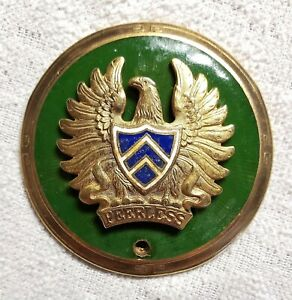 Original PEERLESS Enamel Radiator Badge Emblem 1925-27 VERY RARE