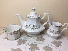 Johnson Brothers Eternal Beau Tea Set Tea Pot Milk Jug Sugar Bowl Superb Cond