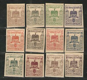 Germany Finsterwalde locals 1946 - MNH/MH VG/F with Sparri gummi - complete set