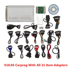 2017 V10.05 Carprog Full Newest Version With All 21 Item Adapters Car Programmer