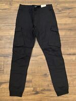River Island Black Tapered Pants Size 30/32