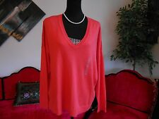 a.n.a woman new soft knit long sleeve orange wear to work top size xl msrp $30