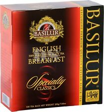 Basilur Ceylon Tea - English Breakfast 100 Tea Bags Luxury