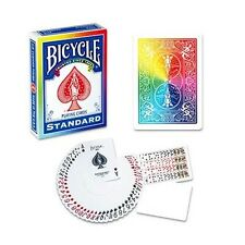 RAINBOW BACK BICYCLE ONE WAY DECK PLAYING CARDS BY DI FATTA POKER MAGIC TRICKS