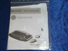 Belkin Wireless Keyboard and Mouse Driver CD Disc and Manual New Desktop 280
