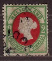 1875 Heligolnad Germany, 2 Pfg/P, Used, Scarce, Cv 1000€