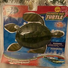 SwimWays Rainbow Reef Turtle Realistic Swimming Action Pool New Old Stock