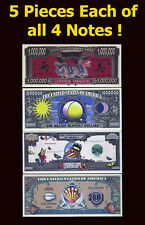 SET USA Fantasy 20 notes 2004, Chinese Dragon, Sun-Moon, Butterfly, Sea Shell