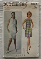 Vintage Dress Sewing Pattern*Butterick 4598*Size 12*UNCUT* Retro*60s*sleeveless