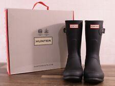 Hunter Women's Black Matte Rubber Rain Boots Original Short 9 MED WFS1000RMA