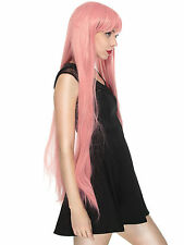 Vocaloid Long Straight Cosplay Luka Party Pink Anime Full Wig Hair Halloween