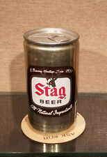 Aluminum Bottom Open Stag Pull Tab Beer Can Carling National Brewing 5 City