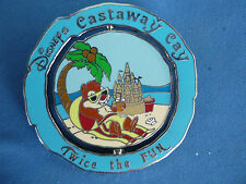 CHIP & DALE  Disney Pin CASTAWAY CAY DCL Cruise Line  EXCLUSIVE  Spins FUN HTF