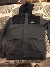 Men's North Face Fleece Hoodie Vintage Military Field Bomber Jacket Size L!