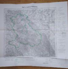 Karte Stadt Landkreis Waldenburg Walbrzych Eulengebirge 1931 Reprint 1:100 000