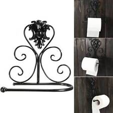 Retro Classical Iron Toilet Paper Towel Roll Holder Bathroom Wall Mount Rack HOT