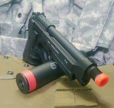 KJW CO2 blowback Beretta M9  full metal airsoft pistol w barrel extension