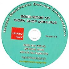 2008-2009 Isuzu NPR NPR HD GMC Chevy W3500 W4500 Truck w/6.0L Gas Repair Manual