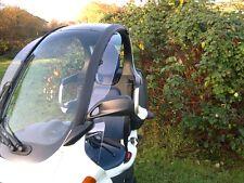 """BMW C1 VORDERE Windabweiser mit spez. Befestigungen """"klammerfrei"""""""