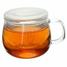 Teacup Tea Glass Cup Coffee Milk Cup with Tea Infuser Filter Lid Use for Home