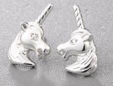 UNICORN HORSE STUD EARRINGS. SILVER PLATED