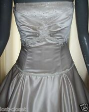 NEW Maggie Sottero Ivory Mocha Strapless Bridal Gown Wedding Dress Size 8 10 12