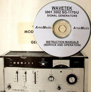 Wavetek 3001  3002 Operating & Service Manuals (3)