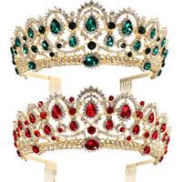 Mariée Princesse Diadème Couronne Strass Tiare de Mariage Bandeau Peigne Bijoux