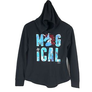 Girls Justice Active Hoodie Size 14/16 Magical Unicorn Sequins Black Pullover