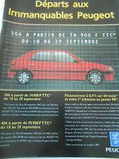 Publicté Advertising 1997  Peugeot 306 départs aux immanquables