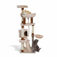 "57"" Cat Tree Scratching Post Kitten House Play Center Condo Tower Pet Furniture"