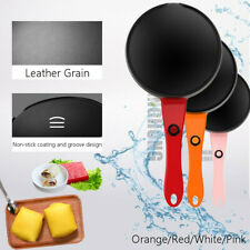 "7"" 220V Electric Crepe Maker Baking Pancake Pan Frying Griddle Machine Non Stick"