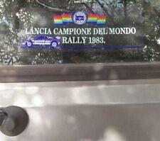 Adesivo vetrofania Lancia campione del mondo rally 1983 Delta Prisma Beta Gamma