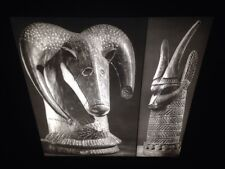 Bini Rams Heads: African Tribal Art Vintage 35mm Slide
