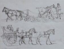 1820 Henry Alken imprimer-Thomas Mclean-ploughung Horse & Transport