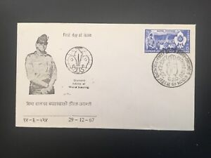 ICOLLECTZONE  Boy Scout Nepal 1967 First Day Cover (D100)